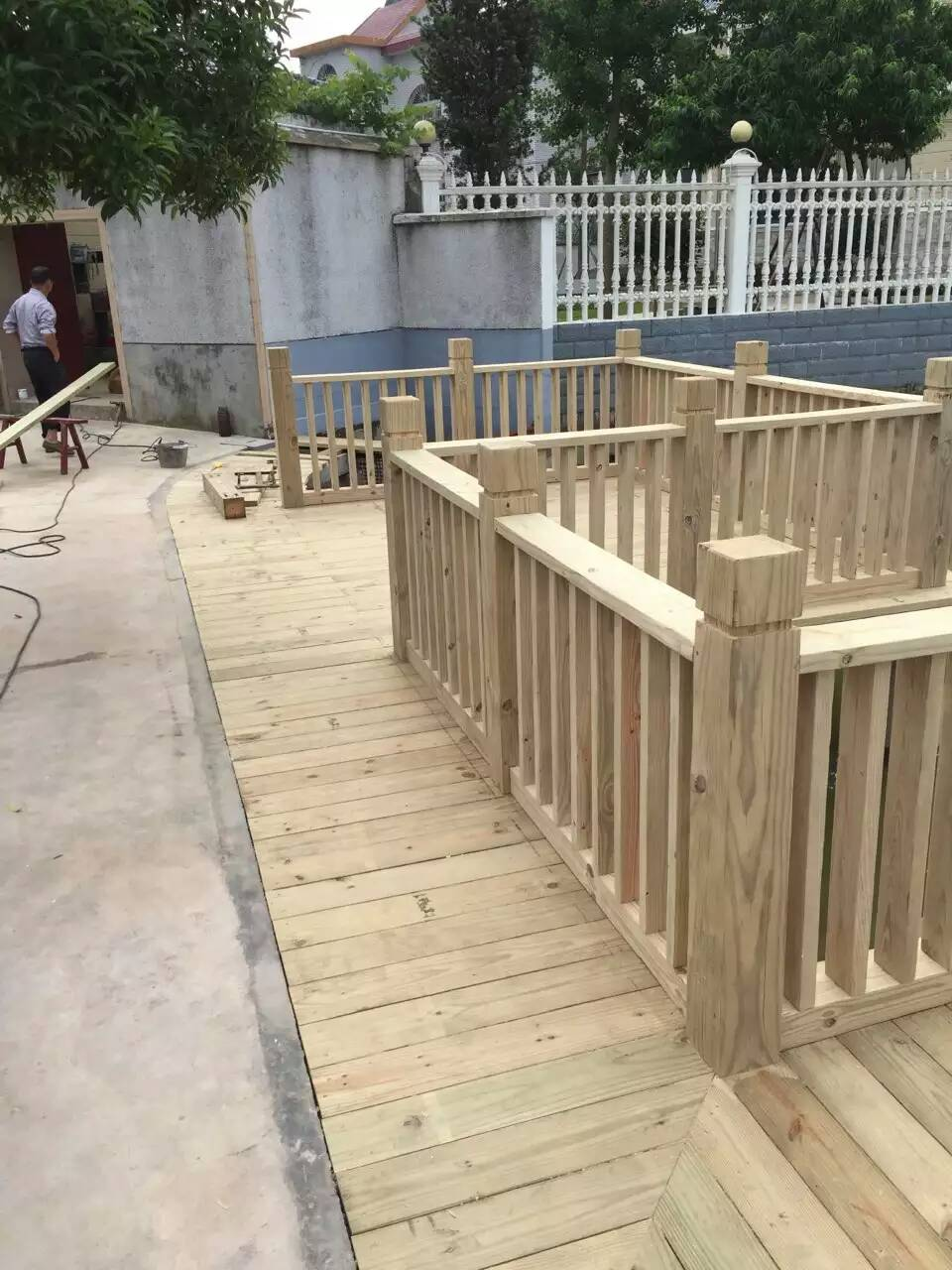 防腐木栏杆|长沙防腐木|湖南防腐木批发|长沙防腐木